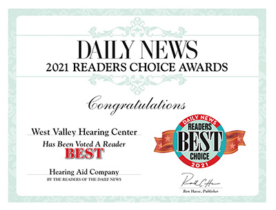 Daily News 2021 Readers Choice_Best Hearing Aid Company